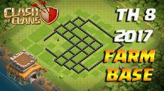 Clash of Clans TH 8 2017 FARMING BASE База ТХ 8 для фарма кубков