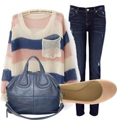 """Sweater-Jeans"" by katie7427 on Polyvore"