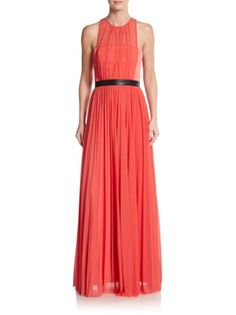 ABS - Pleated Sleeveless Gown