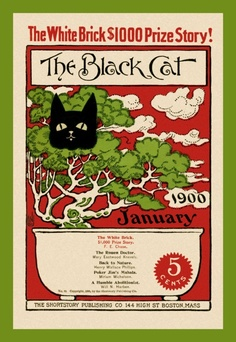 """The Black Cat"" magazine cover - January 1900"
