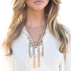 Tassel & rock necklace by: ILY COUTURE