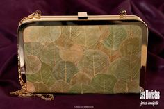 Leaves Clutch by LasFloristas on Etsy