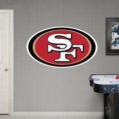 San Francisco 49ers Logo REAL.BIG. Fathead Wall Graphic | San Francisco 49ers Wall Decal | Sports Home Décor | Football Bedroom/Man Cave/Nursery