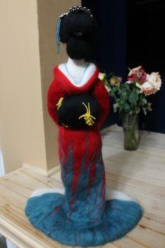 Geisha!   Mis creaciones con Fieltro. ♠ My creations with Felt.