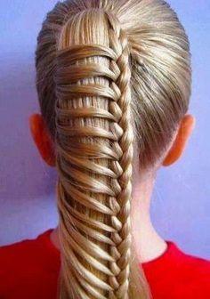 Girl Hairstyles, Braided Hairstyles, Braided Ponytail, Braid Hair, Wedding Hairstyles, Updo Hairstyle, Braided Buns, Hairstyle Ideas, Box Braid