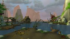 Fishing Village - World of Warcraft mists of Pandaria #Warcraft gaming games images pictures screenshots GameScapes GamingShot concept digital art VistaLore daily pics beauty imagination Fantasy