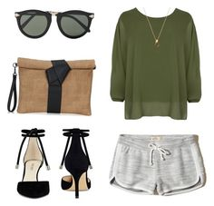 """""""Sporty Chic"""" by cari-bo on Polyvore featuring moda, Hollister Co., Nine West, WearAll y Karen Walker"""