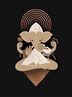 Ganesh Screen Print. $35.00, via Etsy.