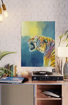 Printed on smooth gloss paper for sharp, high-quality images and super vibrant colors. This big cat will lighten up your home! Tiger Poster, Butterfly Wall Art, Colorful Wall Art, Cat Wall, Animal Decor, Home Wall Art, Artwork Prints, Community, Friends