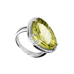 Lemon Cocktail Ring #Ring #CocktailRing #Stone #Silver #SilverRing #Jewellery #Lemon