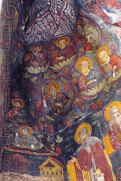Sumela is 1600 year old ancient Orthodox monastery located at a 1200 meters height on the steep cliff at Macka region of Trabzon city in Turkey. Fresco, Trabzon Turkey, Turkey Country, Christian World, Byzantine Art, Hagia Sophia, Mural Painting, Black Sea, Triptych