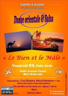 Spectacle de danse orientale & salsa + expo, Châteauroux, MLC Belle-Isle, Salle Gaston Couté, 7 Avenue Daniel Bernardet, Vendredi 3 Juin 2016, 21h00