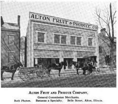 Alton Fruit & Produce Company, Alton, IL.  From the collection of Doug Mayes.