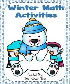 This Winter Math Activities Packet has is designed to meet Common Core Standards for Kindergarten while making learning fun, hands-on and interactive.