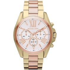 Birthday Gift to me - Michael Kors 'Bradshaw' Chronograph Bracelet Watch found on Polyvore