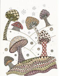 Zentangle Mushroom