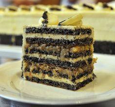 Apple-poppy seed cake (Cake of Hungary recipe in Hungarian
