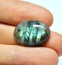 Labradorite Gemstone Cabochon Oval AAA  23.3 x 16.9 mm by AliveGems, $5.50