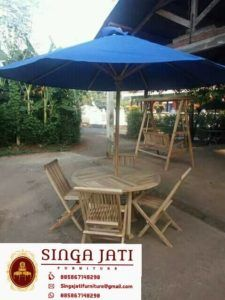Kursi-Lipat-Meja-Payung-Kayu-Jati-01 Online Furniture, Patio, Interior, Outdoor Decor, Home Decor, Terrace, Indoor, Interiors, Interior Design