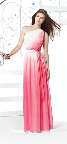 Dessy Collection Style 2831 in twilight ombre but comes in many colours - bridesmaids? Ombre Bridesmaid Dresses, Bridal Dresses, Bridesmaids, Ombre Gown, Mob Dresses, Formal Dresses, Wedding Styles, Wedding Ideas, Wedding Stuff