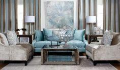 Brighton Sofa - Aquamarine from Z Gallerie - adore this vignette