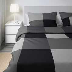 IKEA of Sweden. Includes: 1 Full/Queen (Double/Queen) duvet cover and 2 pillowcases. Duvet cover length Duvet cover width Duvet cover and pillowcase(s). King Duvet, Queen Duvet, Ikea Canada, Black Duvet Cover, Bed Sets, Quilt Cover Sets, Luxury Bedding, Bedding Sets, Comforters
