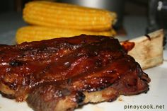 Barbequed beef short ribs