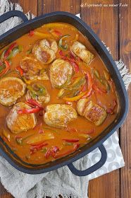 Schweinefilet in Paprika-Rahmsoße Pork fillet in paprika cream sauce Recipe Pork Recipes, Salad Recipes, Cooking Recipes, Healthy Recipes, Pork Fillet, Cream Sauce Recipes, Eat Smart, Weight Watchers Meals, Food Porn