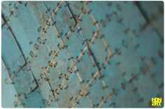 TERRA BLUE | blue  patina on hammered #copper | detail | Private Collection, Belgium | #art #tapestry #interieur #sculptureart