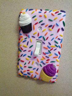 Cupcake Sweet Light Switch By 2009ladybugz On Etsy 10 00 Room Decorcupcake