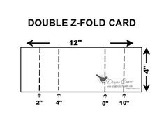 I love folded cards. With a few score lines and folds a card seems to be magically transformed. Here's a Double Z-Fold Card we made at one of my workshops. The hardest measurements were foe t… Card Making Templates, Card Making Tips, Card Making Techniques, Tri Fold Cards, Fancy Fold Cards, Folded Cards, Z Cards, Pop Up Cards, Easel Cards