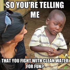 people in first world countries waste water