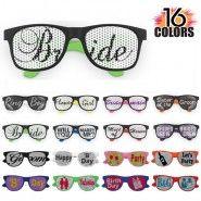 Custom Printed Wedding Favor Printed Lens Rubberized Sunglasses w/16 Colors