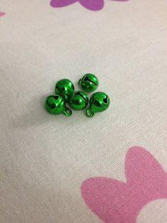 5 Pcs Metal Bells  Nickel Free  8mm  Jewelry by GeorgeousBeads, $2.50