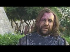 Rory McCann on Sandor and Sansa, that accent! This is for my poor friend who is reading AFFC and having hound withdrawals