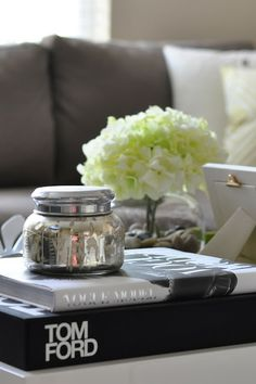 being lovely: at home - coffee table style