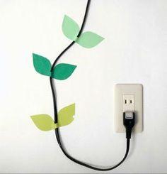washi tape cable holders on ecocreativas.com