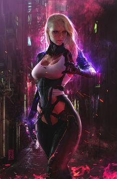 Sci Fi Kunst, Cyberpunk Kunst, Cyberpunk Girl, Cyberpunk Fashion, Cyberpunk 2077, Fantasy Girl, Fantasy Art Women, Arte Sci Fi, Sci Fi Art