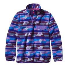 Patagonia Women's Synchilla® Lightweight Snap-T® Fleece Pullover - Guatemalan Tango: Violetti (GTVL-730)