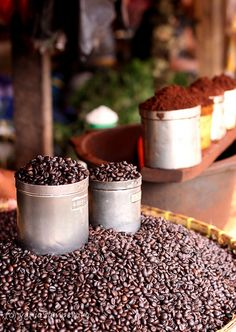 Coffee beans were originally from the Americas and were brought to Europe as a drink and food source.