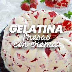 Gelatin Recipes, Jello Recipes, Mexican Food Recipes, Easy Desserts, Delicious Desserts, Yummy Food, Tasty, Food Tasting, My Dessert