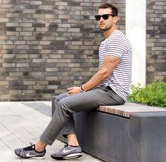 #tshirt #pants #sneakers #white #grey #sunglasses #streetstyle #style #menstyle #manstyle #menswear #fashion #mensfashion