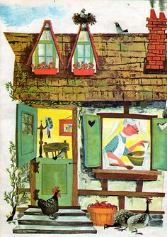 The Gingerbread Man, Illustrations by Bonnie & Bill Rutherford, 1963- Cottage by try-whistling-this on Flickr