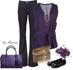 """perfect in purple"" by shauna-rogers ❤ liked on Polyvore"