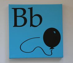 B Alphabet Initial Letter with Balloon Wall by masterymixedmedia, $19.99
