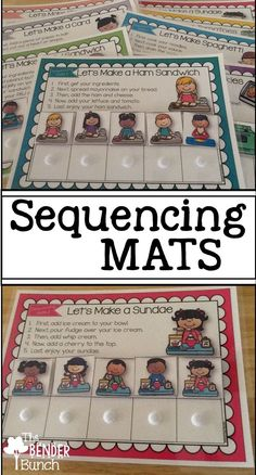 Sequencing Mats for teaching sequencing skills.