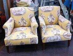 Vintage Rolled Arm Chairs - Beautifully Reupholstered - ReVamp Vintage