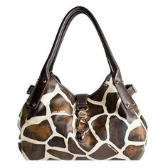 Dooney & Bourke Giraffe Logo Lock Satchel Handbag!!! I love this bag. Maybe as much as I love my own children. Sometimes I sit it on my bed and just look at it.