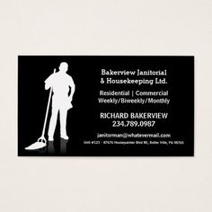 commercial cleaning business cards