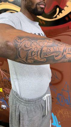 God is my Judge Tattoo - God Is My Judge. By: Lalo www. Half Sleeve Tattoos Forearm, Forearm Tattoo Quotes, Lion Tattoo Sleeves, Half Sleeve Tattoos For Guys, Forarm Tattoos, Small Forearm Tattoos, Cool Tattoos For Guys, Best Sleeve Tattoos, Tattoo Sleeve Designs